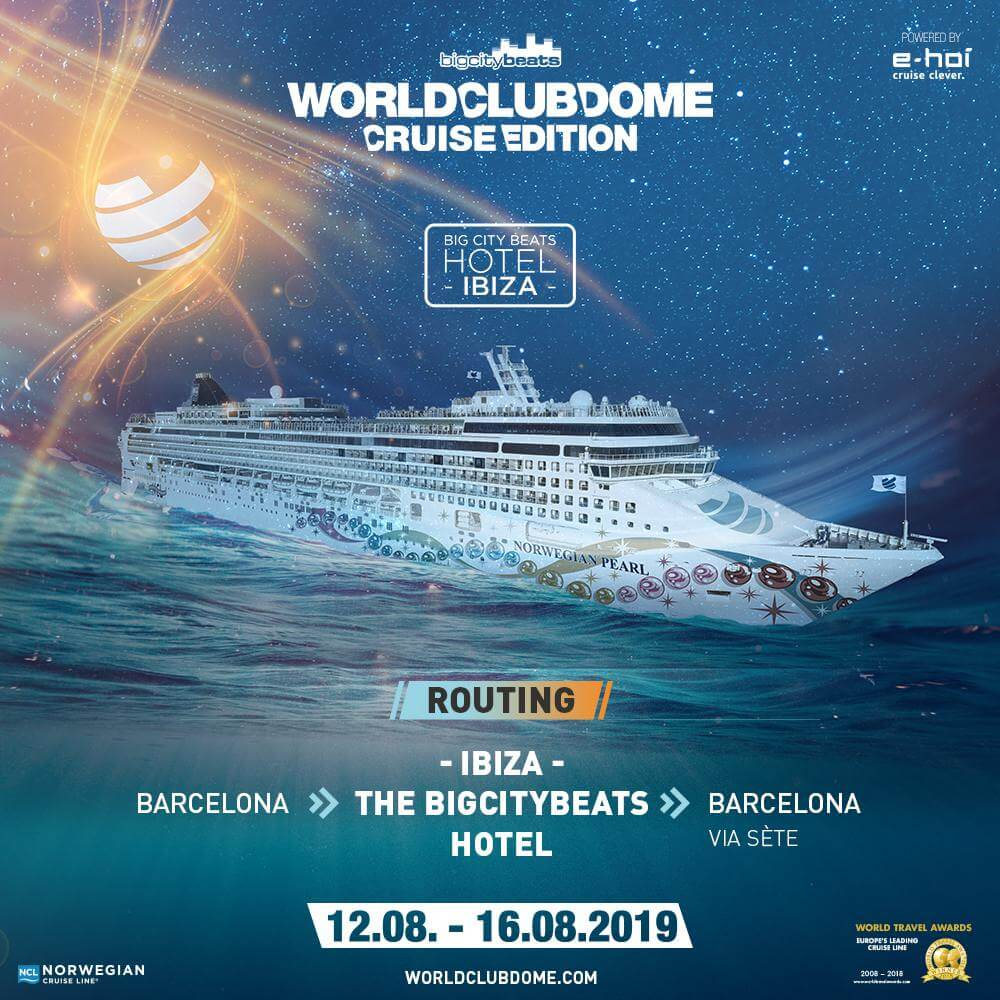 BCB World Club Dome Cruise Edition 2019 - Plakat Ankündigung