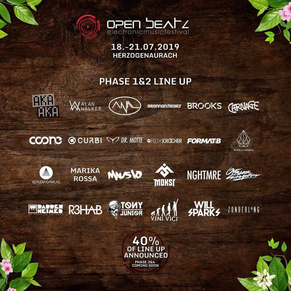 Open Beatz Festival 2019 Line up Phase 1&2 Plakat