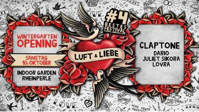 Luft & Liebe Wintergarten Opening mit Claptone
